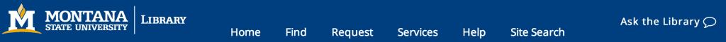 MSU Library Website Header, 2014