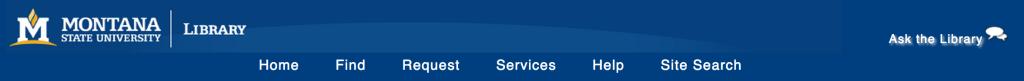 MSU Library Website Header, 2011-2014